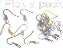 28 earwire hooks (14 pairs) in a choice of 6 colours or 12prs of the mixed.